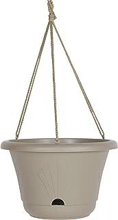 "product image for Bloem LHB1383 Lucca Self Watering Hanging Basket Planter 13"" Pebble Stone"