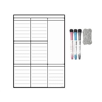 Calendario para nevera con pizarra blanca magnética A3, para ...