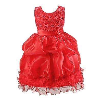 ❤️Robe de Filles , Amlaiworld Fille d'enfants Robe Princesse Fleurs Robe de Partie de Robe Formelle Robe de Demoiselle d'honneur de Mariage Pour 2-8 Ans Fille