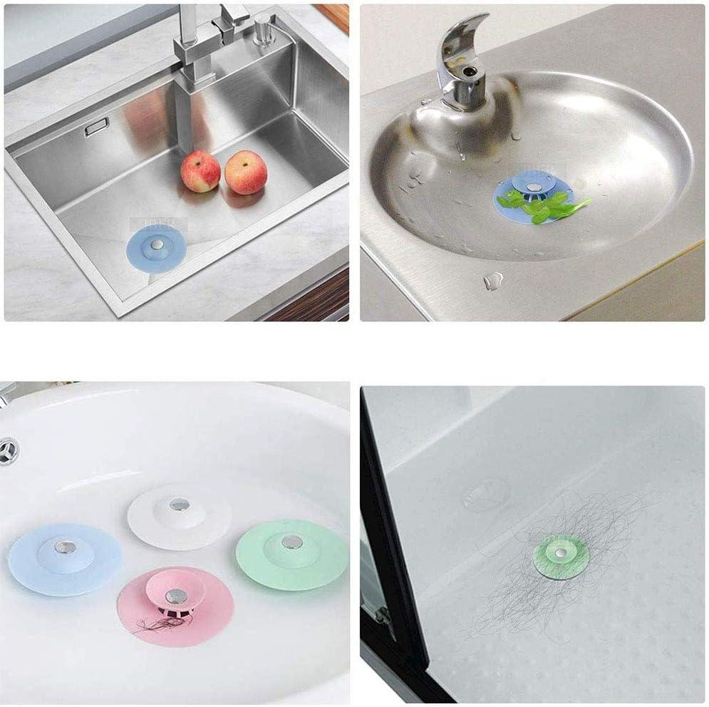 A+ 5 Pezzi Tappo di Scarico in Silicone Cucina per Bagno Universale Tappo Silicone Silicone Tappi di Aspirazione Lavabo per Cucine Bagni Prevenire Perdite Lavandino Pavimento