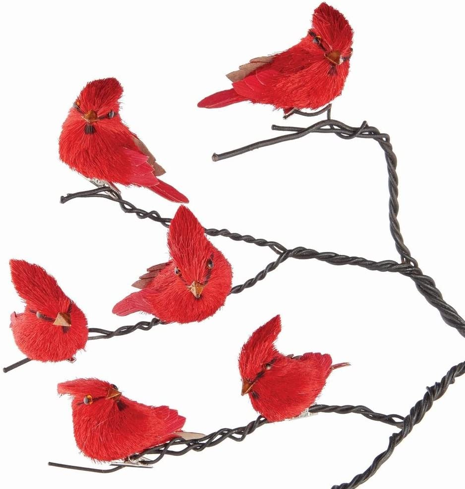 Napa Home & Garden Sisal Cardinal Ornaments, Set of 6