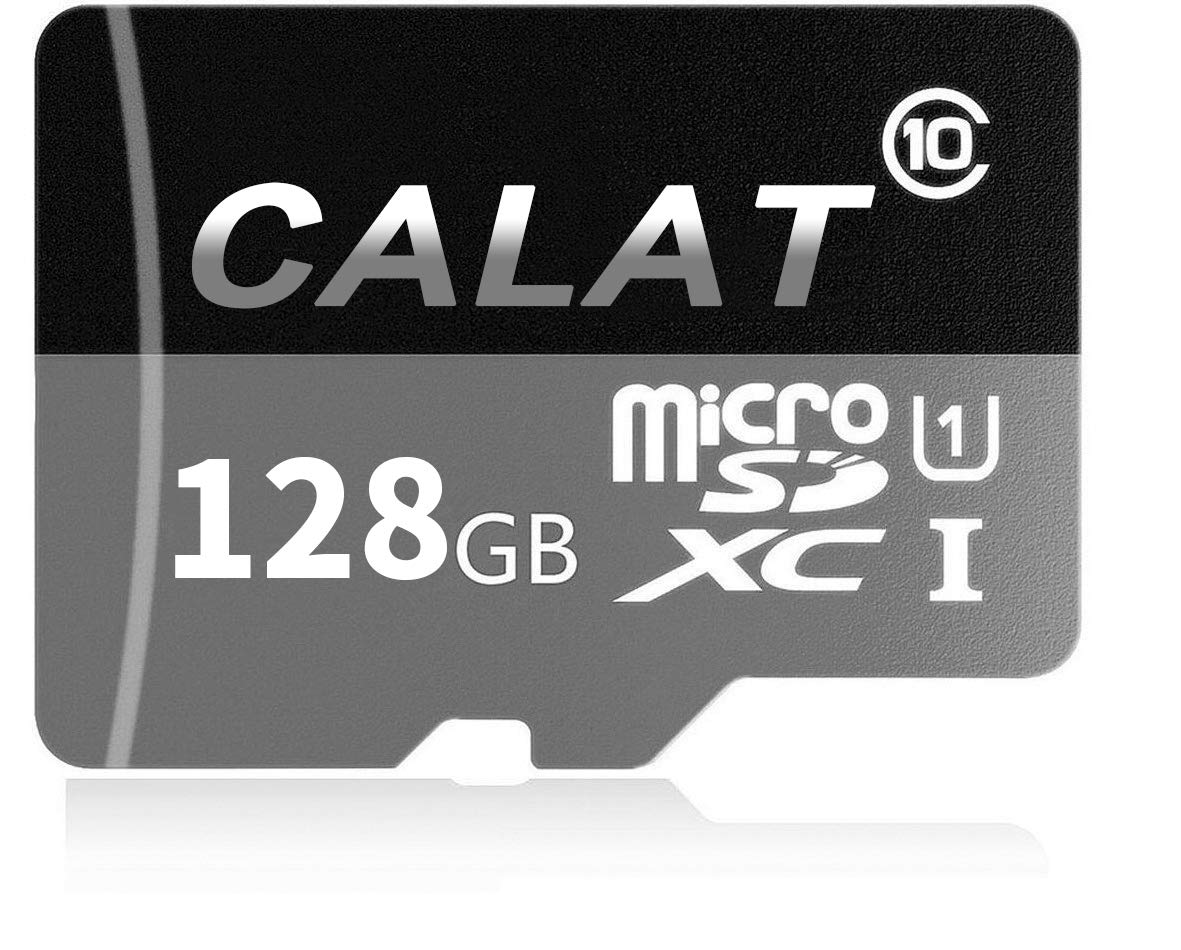 CALAT Micro SD SDXC Card 128GB High Speed Class 10 Memory Micro SD Card with SD Adapter