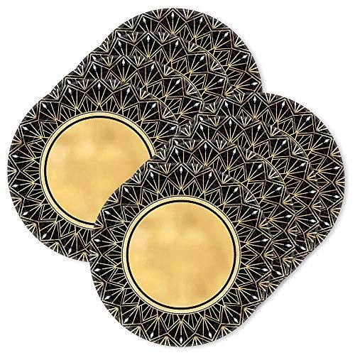BirthdayExpress Glitz & Glam Metallic Dessert Plates (24)