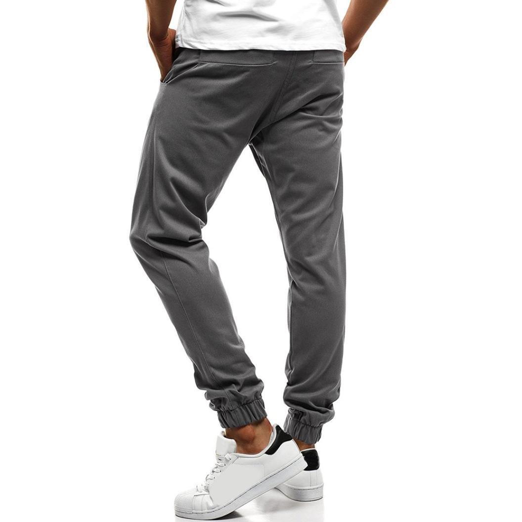 Amazon.com: Usstore - Pantalón para hombre con botones y ...