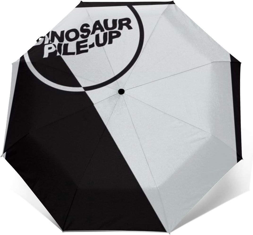 RongFaClothing Automatic Waterproof Fashion Dinosaur Pile-Up Sun Umbrella-Auto Open Close Travel Tri-fold Rain Parasol Umbrella Gift Outer Print