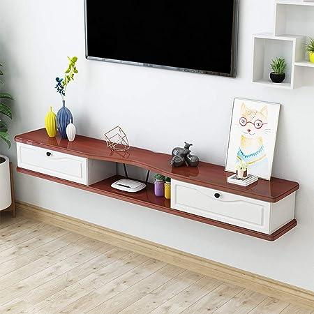 Soporte de pared para televisor Entretenimiento para el hogar Centro de medios Consola de almacenamiento Consola para medios montada en la pared Consola de TV Gabinete para TV Estante para componentes: Amazon.es: