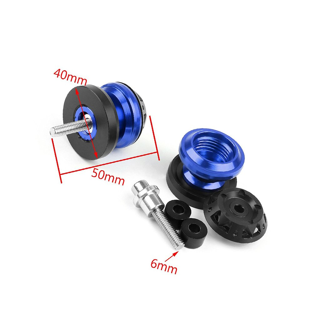 Amazon.com: 6mm Swingarm Stand Spool Slider Bobbin Pair Car Armrests For Yamaha Tmax500 Tmax530 TMAX533 R125 R1 R6 R3 XJR1300 (Blue): Automotive