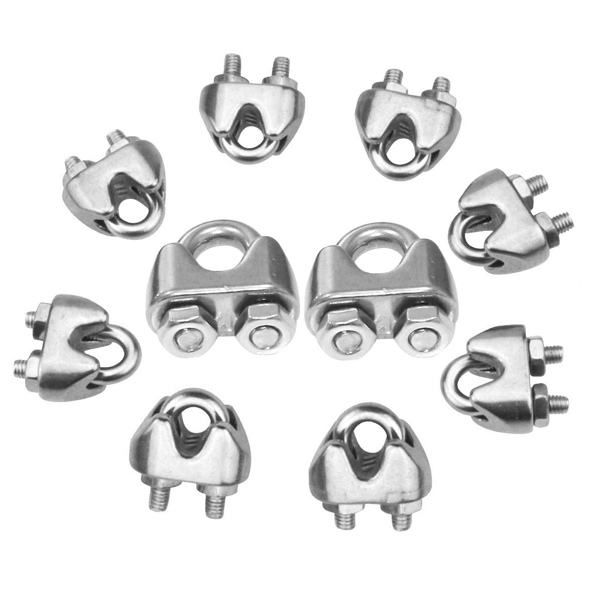 GLE2016 Stainless Steel Cable Clamp Saddle Fastener for Marine Ships Vessels Wire Rope Clips