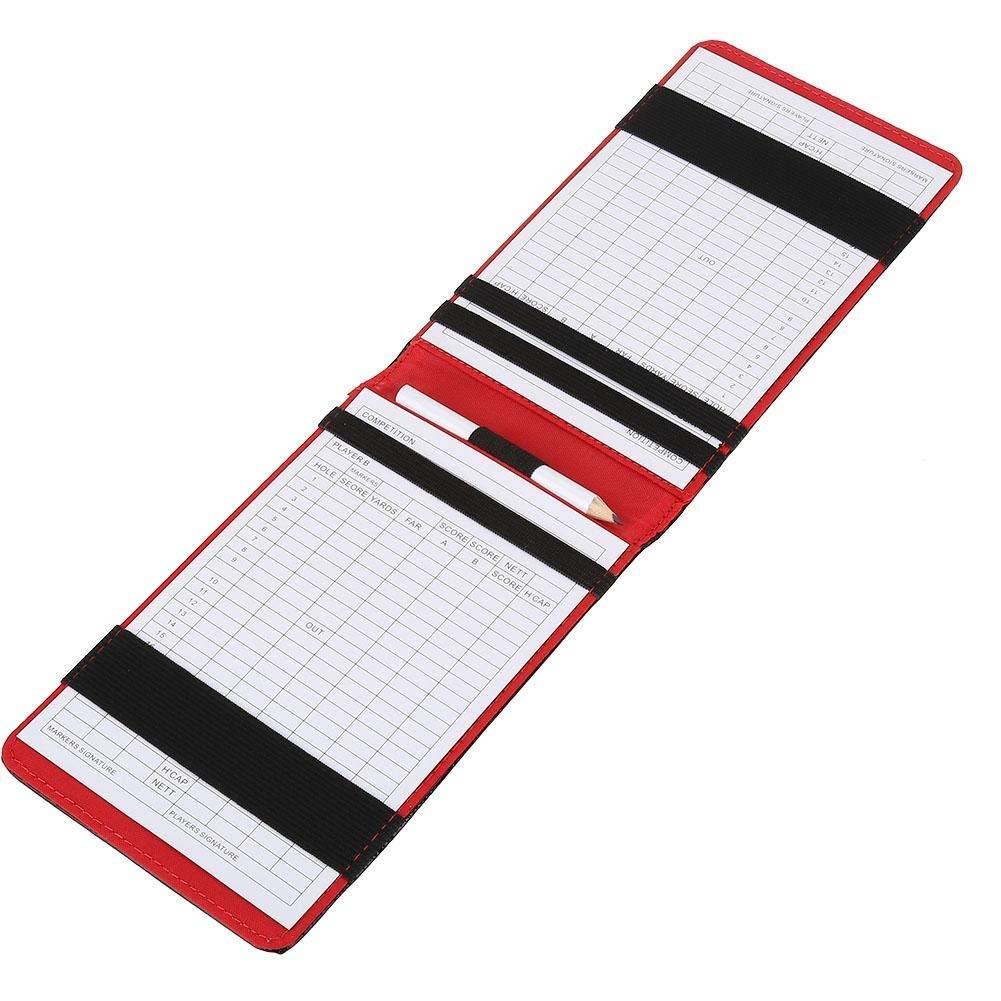 Soporte de cuero kofull para tarjeta de puntuación de golf y ...