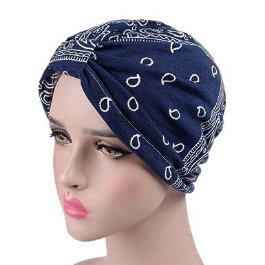 Yiyilai Chapeau Indien Fleurie Femme Homme Coton Elastique Bonnet