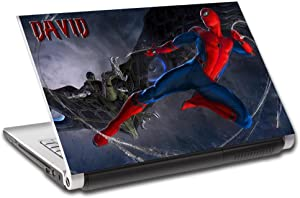 Spider Man Homecoming Personalized LAPTOP Skin Decal Vinyl Sticker ANY NAME L639, 14