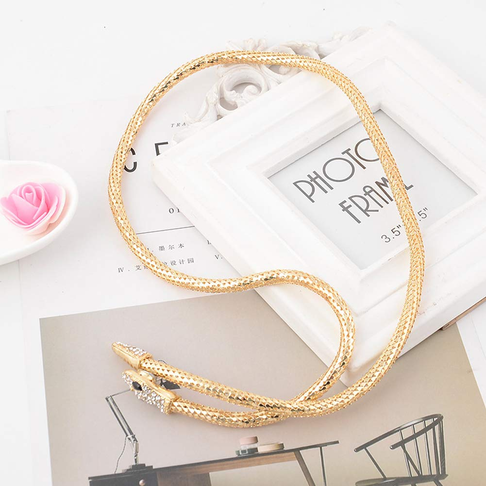 Hobbyant Simple Personality Retro Snake Necklace for Women