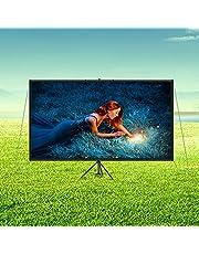 VEVOR 16:9 projektorduk stativ 4K HD projektionsduk rullduk projektionsyta 133 x 76 cm presentationsvägg höjd från 200–250 cm justerbar idealisk för hemmabio möten bröllop utbildningar
