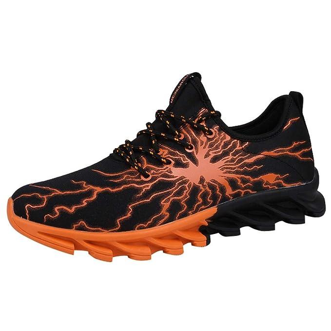Dragon868 Scarpe Uomo Sneaker Lace Up Fulmini Printed Scarpe Comode per  Camminare Outdoor Scarpe Sportive Scarpe da Corsa Traspirante Invernali   Amazon.it  ... a82f5c202a3