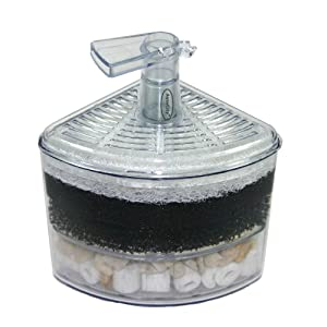 Aquapapa Corner Filter Air Driven Bio Sponge Ceramic for Fry Shrimp Nano Fish Tank
