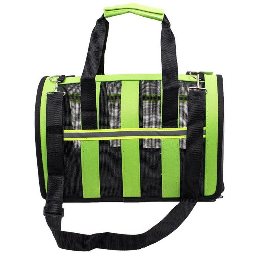 UEETEK Portable Pet Dog Carrier Bag,Transport Travel Bag for Pets Dogs Cats - Size S (Green)