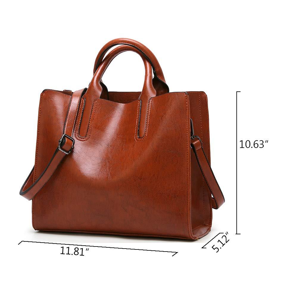 3c4744004e Amazon.com  Women Fashion Top Handle Satchel Handbags Shoulder Bag Tote  Purse Crossbody Bag (Wine Red)  Shoes