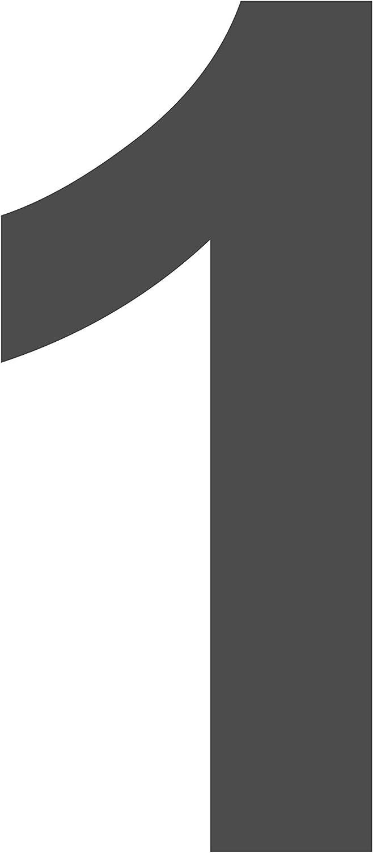 Beschriftung 100 mm Sticker passende /Übertragungsfolie   braun Vinyl Glanz Hausnummer 0 Gr/össe L = 10 cm Selbstklebende gestanzte Zahl das-label Nr Scrapbook