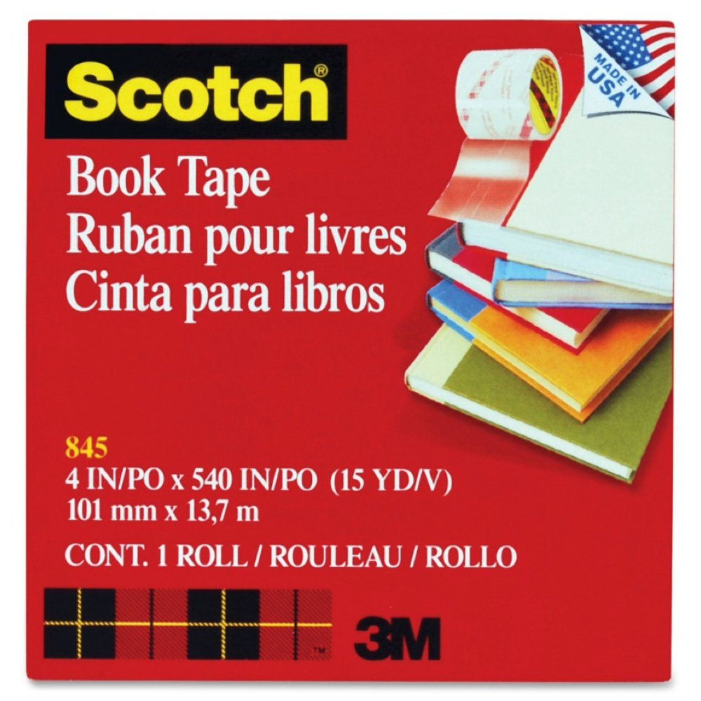 See-Through Book Repair Tape, 4'''' Wide, 15 Yards Long, 3'''' Core (MMM8454)