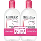Bioderma H2O Micelle Solution 2 x 500ml (French packaging: Cr aline, English packaging: Sensibio)