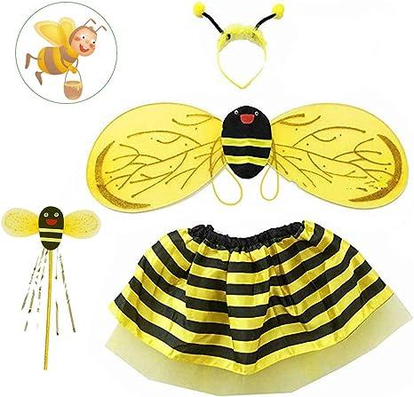 AFASOES Traje de abeja Traje de disfraz de abejorro Disfraz de ...