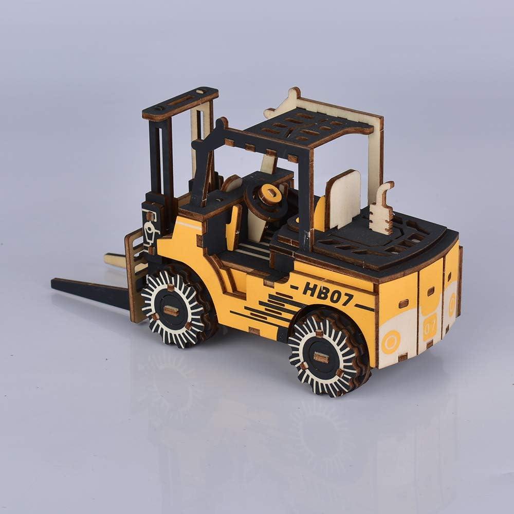 3D Wooden Puzzle Adult Excavator Model DIY Assembled Craft Kit Laser-Cut Mechanical Educational VehiclesToys Set Christmas Birthday Gift for Husband,Boyfriend,Teen Boys Home Decor