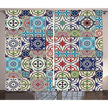 Amazon Com Ambesonne Moroccan Decor Collection Patchwork