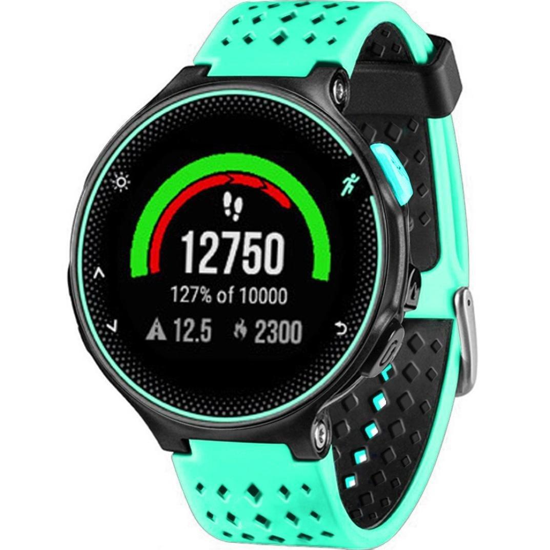 Malloom Silicona Banda de Reloj Ajustable Correa de Reloj de Correa de Reloj de reemplazo para Garmin Forerunner 230/235/630 (Verde Menta): Amazon.es: ...