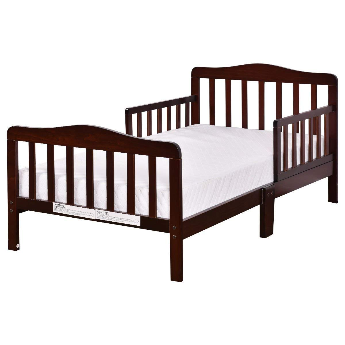 COSTWAY VD-4596BN Toddler Bed, Cherry