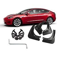 Tesla Model 3 Accessories Hamkaw Front Rear Heavy Duty Splash Mud Guards Full Set 4pcs Suitable for All Tesla Model 3