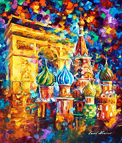 (From Paris To Moscow - moscow oil painting on canvas by Leonid Afremov)