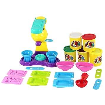 MagiDeal Juguete Educativos de Actividades Diseño Helado Pretend Plastilina Colorido para Niños: Amazon.es: Juguetes y juegos