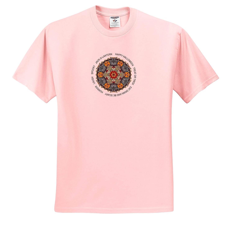 3dRose Alexis Design Happy Halloween Elegant Colorful Mandala Mandala Seasons Holidays Text Funny Gift T-Shirts Text