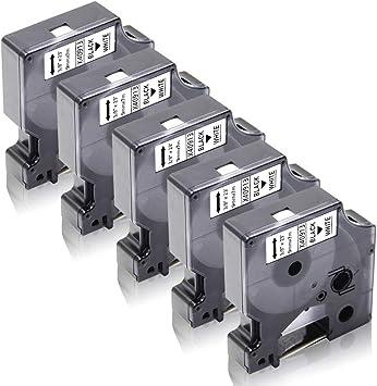 5x Kompatibel zu Dymo D1 9mm 40913 Schriftband LabelManager 150 160 280 420P PnP