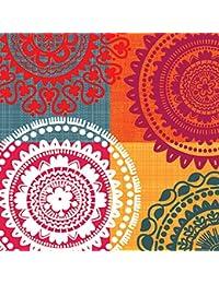 Acquisition Abbott Collection Luncheon Ethnic Theme Napkins, Multicolor discount