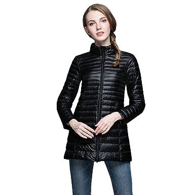 c2e31867d2a Amazon.com  Women s Ultra Lightweight Long Down Jacket Puffer Coat ...
