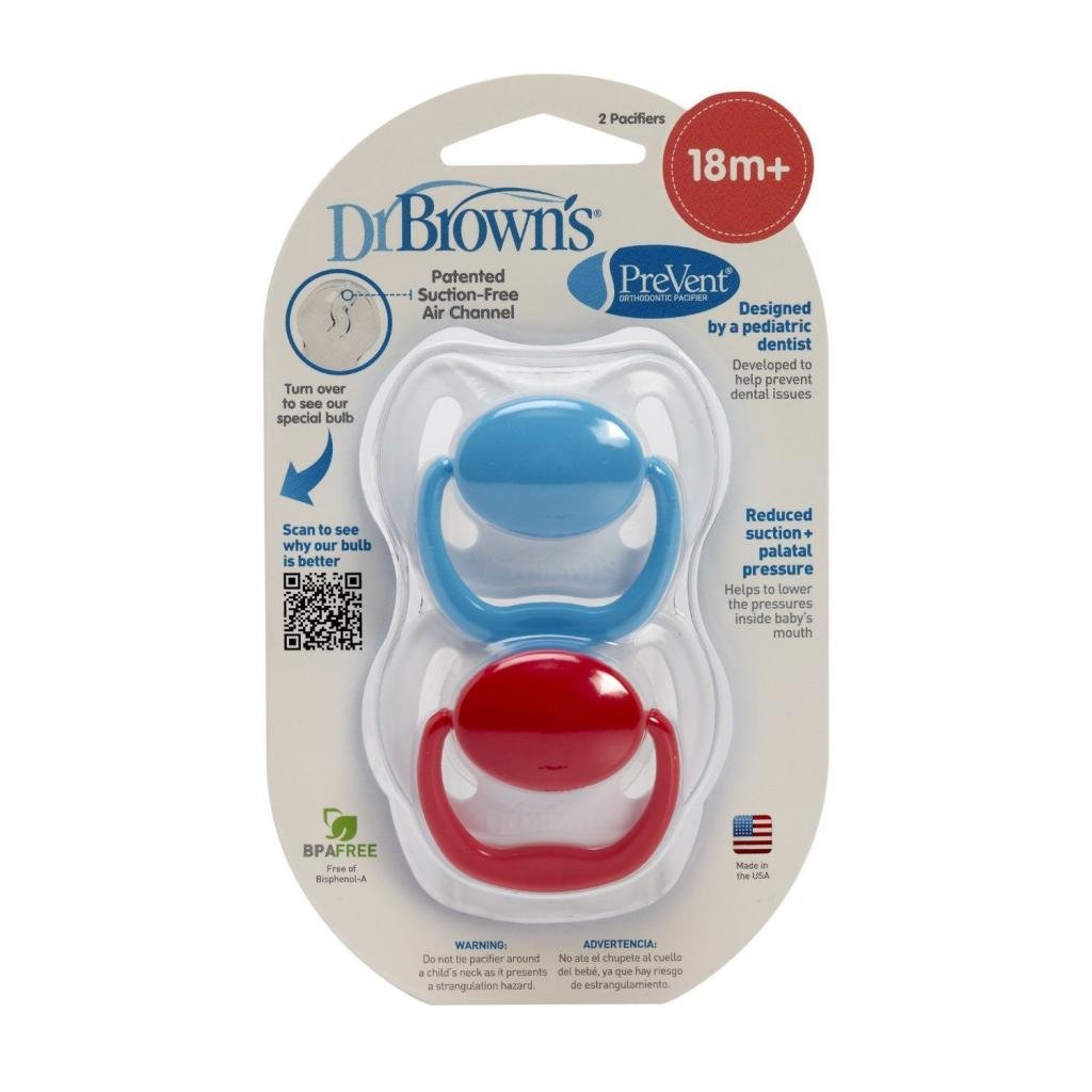 Dr. Browns PreVent Pacifier Stage 3 - Blue/Red (18+ months)