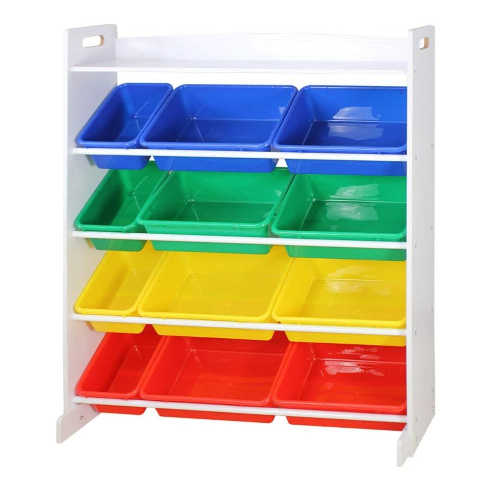 JAJXRCK Kids Toy Storage Organizer Children's Toy Storage Rack Children's Toy Storage Toy Rack Storage Cabinet Storage Rack Storage Box Shelf Drawer (Color : Dark Color Box, Size : 12038107cm)