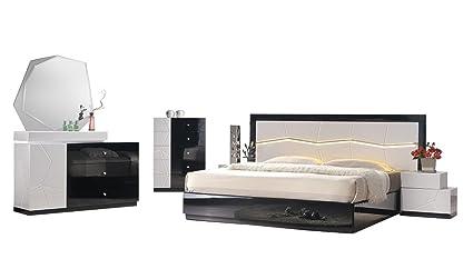 Amazon.com: J&M Furniture Turin Contemporary Queen Bedroom ...