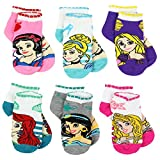 Disney Princess Girls Teen Womens 6 pack Socks (4-6 / Shoe: 7-10, Princess Stripes Quarter)