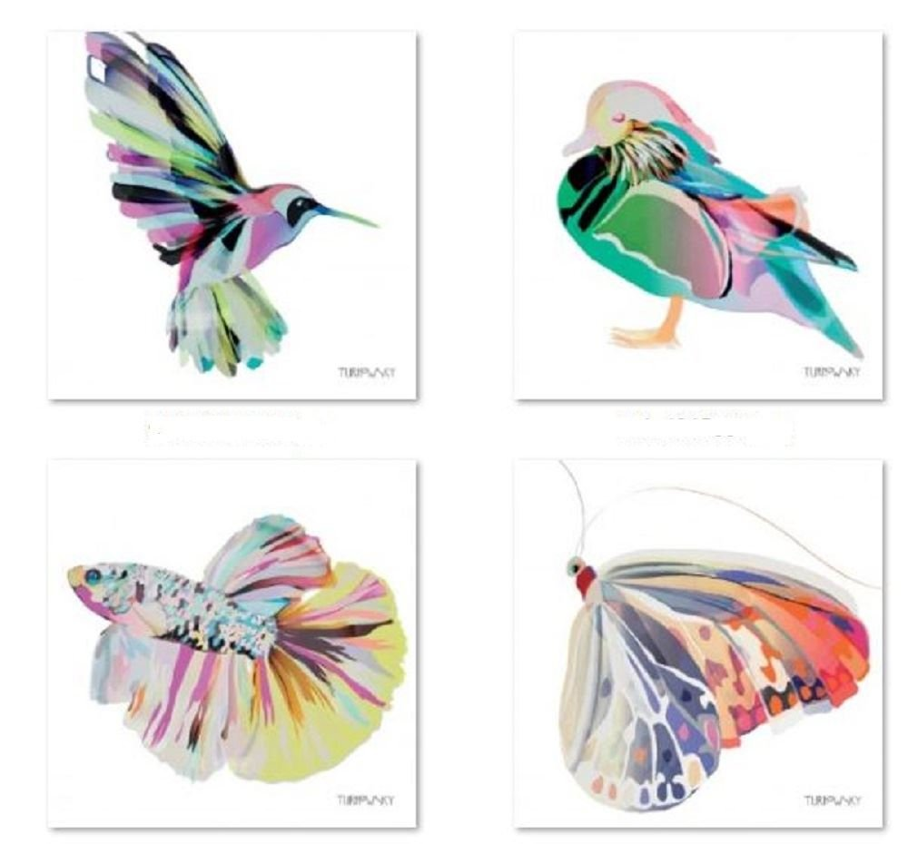 4 x Paper Napkins - 1 each of the Corfu Range - Ideal for Decoupage / Napkin Art Crafty Things