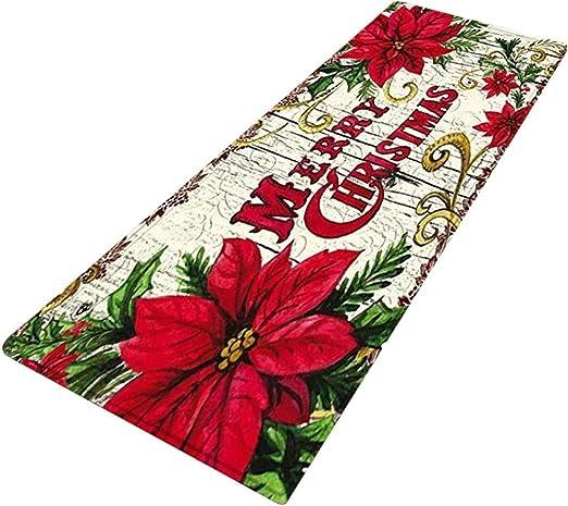 Christmas Mat Floor Rug Carpet Mat Bath Bathroom Home Shower Non-slip Pad Door