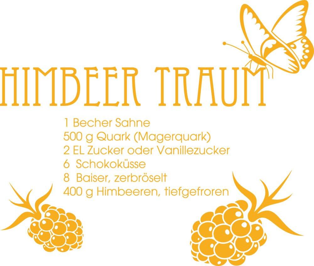 GRAZDesign 620312_50_020 Wandtattoo Rezept Himbeer-Traum   Sprüche ...