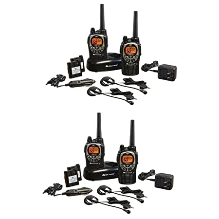 Midland GXT1000VP4 36-Mile 50-Channel FRS GMRS Two-Way Radio Total of 4 Radios