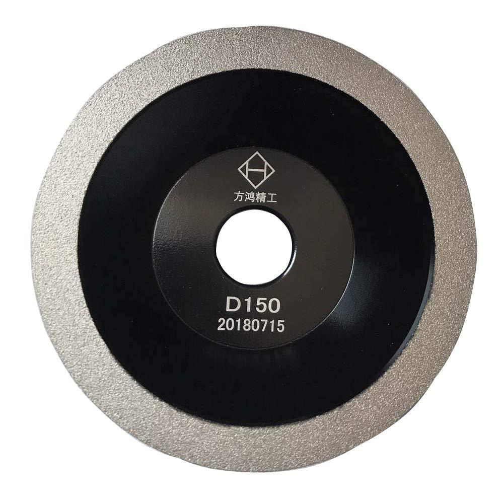Brazed Diamond Grinding Wheel Cutter Grinder Tool Diamond Coated Flat Wheel Grit 400 (Black, 6 inch (150mm)) by B.M. Choice