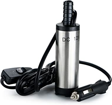 12V 8700r//min 38mm Electric Submersible Pump Pumping Oil Water Fuel Transfer E