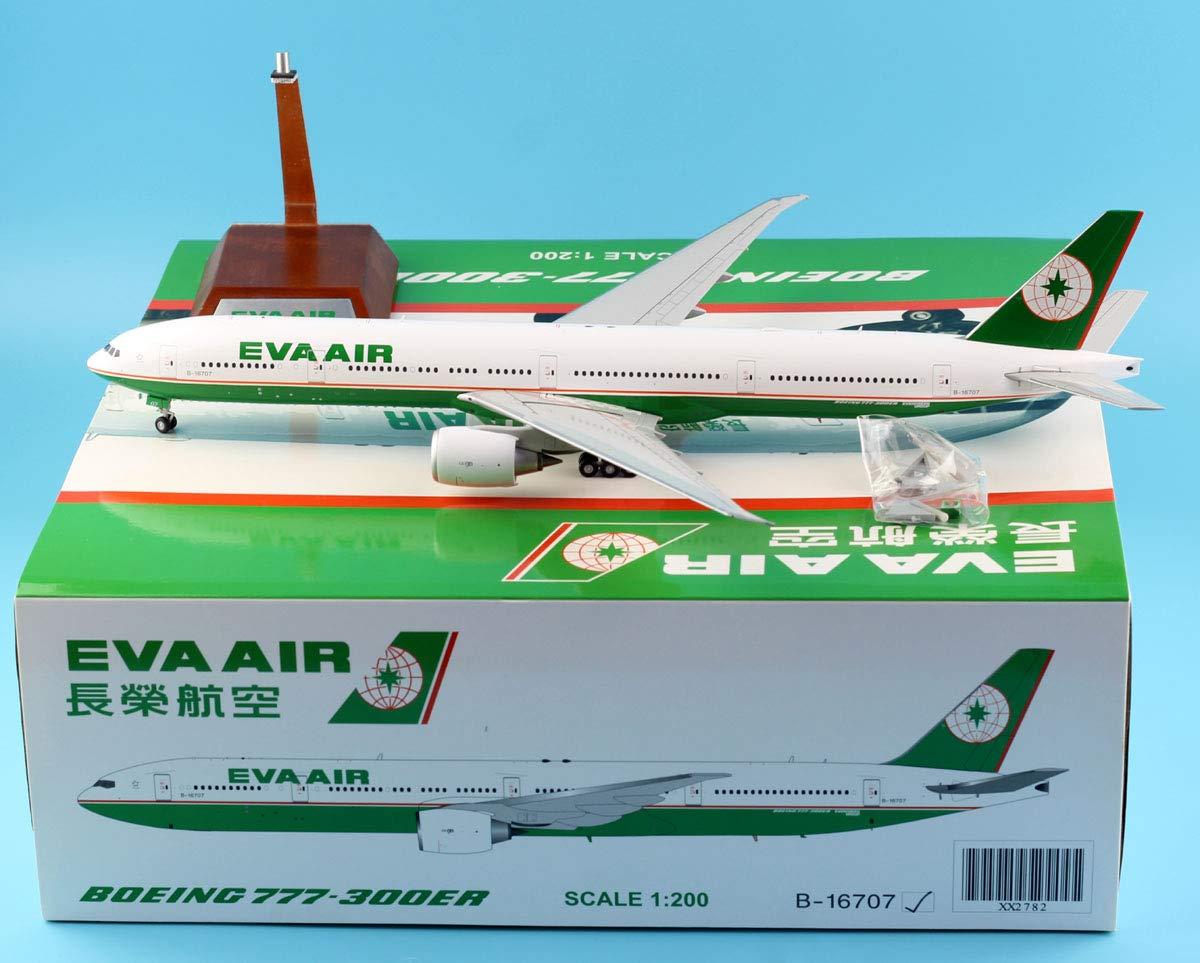 海外ブランド  JC Boeing Wings B07R6H5MXY 1:200 JC XX2782 Eva Air Boeing 777-300ER ダイキャスト航空機モデル Reg#B-16707 B07R6H5MXY, おばけのかくれんぼrenren店:b4e7ea30 --- calloffice.com.tr