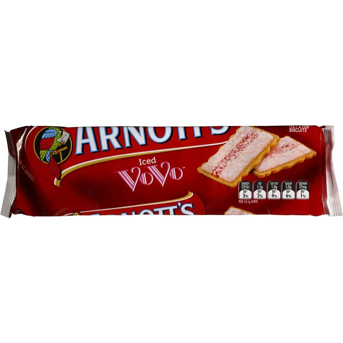 Australian - Arnott's Iced Vo-Vo Biscuits 210g.