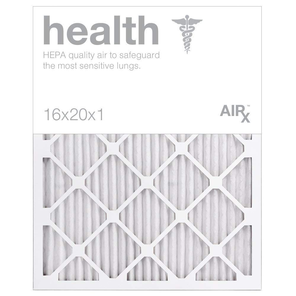 AIRx HEALTH 16x20x1 MERV 13 Pleated Air Filter - Made in the USA - Box of 6