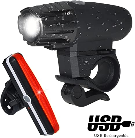P Luces para Bicicleta LED,Luces de Bicicleta USB Recargable,Luz ...